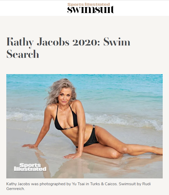 Model Kathy Jacobs in Sports Illustrated